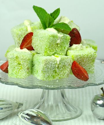 CHRISTMAS LIME LAMINGTONS (oh Mercy! Lime AND Coconut!)
