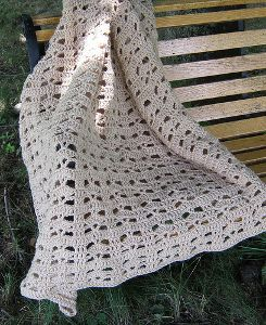 Bohemian Lace Afghan: light and lacy and oh-so-sweet