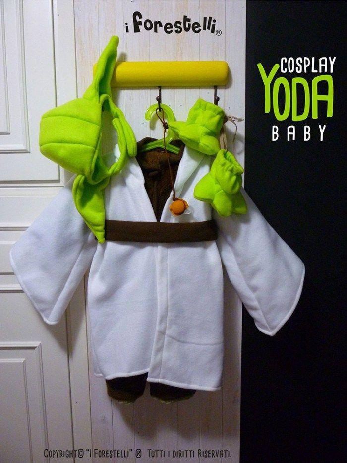 Costume di Yoda per bambini Yoda Baby Cosplay Star Wars