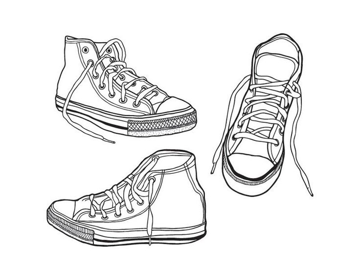 converse all stars shoes cool coloring pages