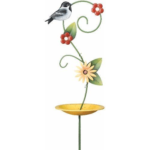 Chickadee Bird Feeder Stake by Regal Art & Gift. $18.90. Width: 9.20 inches. Height: 5.50 inches. Manufacturer: Goldcrest. Length: 20.12 inches. Bird Feeder Stake-Chickadee. Regal Art & Gift has developed an excellent reputation in the gift and decorative accessory industry for superior quality products offering a variety of construction and finishing techniques suited to each product category. Product is made of thick gage metal with 8-12 layers of automotive paint. It is po...