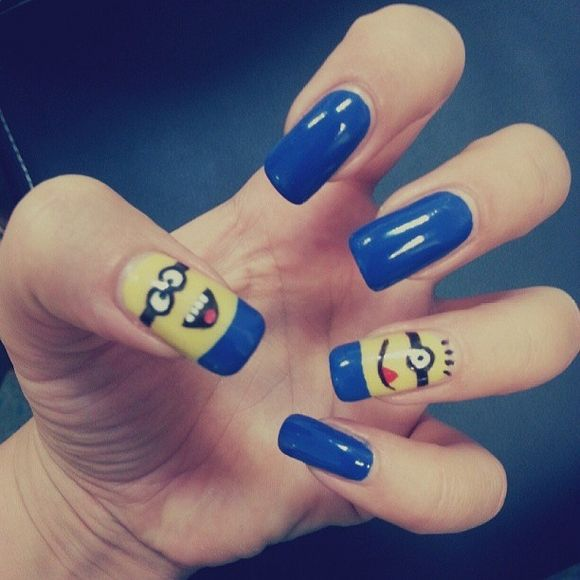 50 Adorable Despicable Me Minion Nail Designs photo Callina Marie's photos - Buzznet