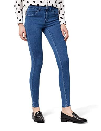 2f995a83db Only onlRAIN REG Skinny Jeans CRY5055 Noos Femme Bleu (Medium Blue Denim)  40 /L32 (Taille Fabricant: Large)
