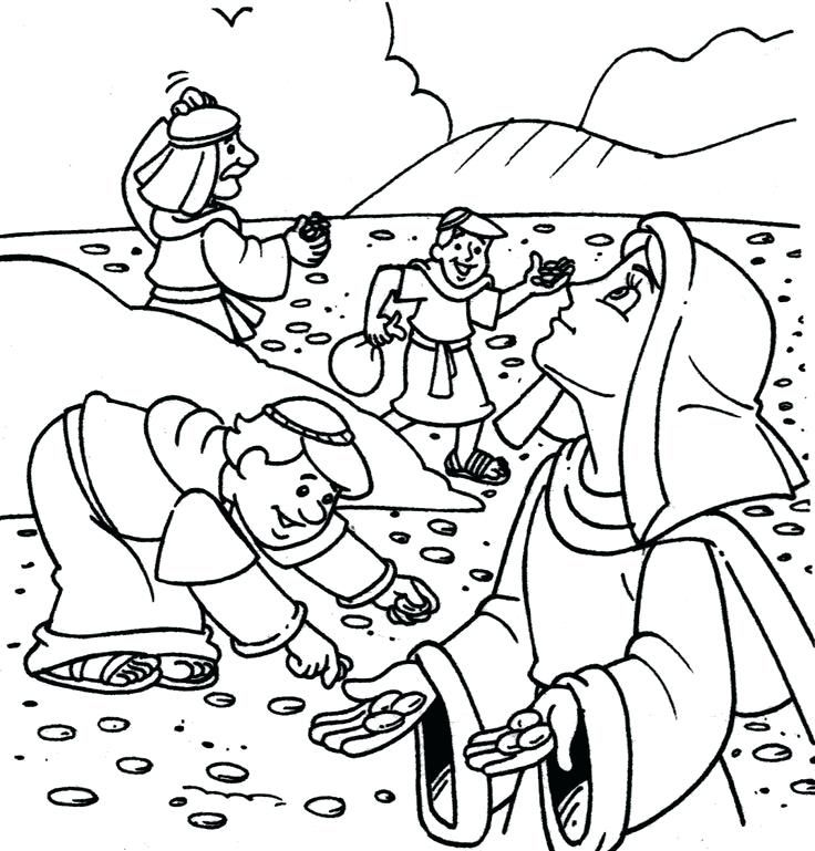 Manna Coloring Page And The Years In The Coloring Pages Vacation
