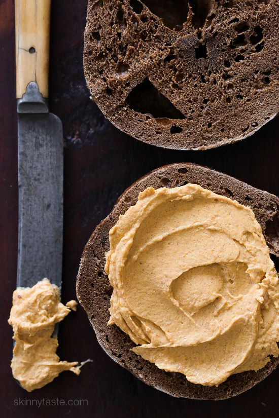 Pumpkin Spiced Cream Cheese – an EASY way to enjoy the flavors of Fall for breakfast on bagels or toast.