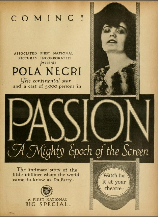 Pola Negri - 'Passion'
