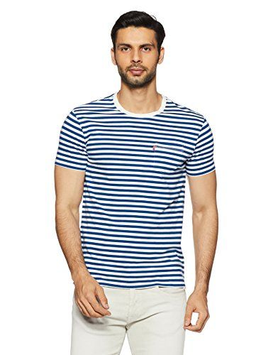 8e118812 Levis Men's Striped Regular Fit T-Shirt (52656-0003_Blue_M) - TellMePrice.