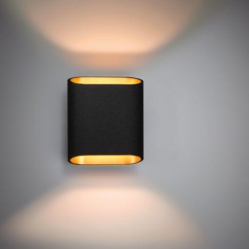 Wandlamp zwart en goud van Modular Lighting Instruments www.barefootstyling.com