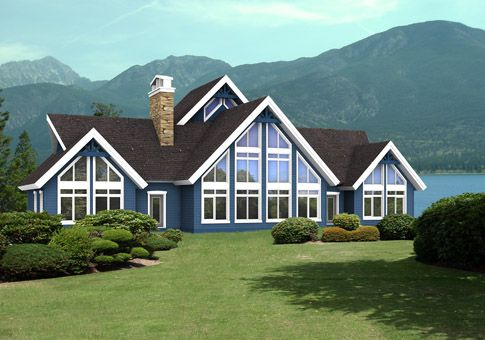 The Caledonia home package from Linwood Homes is a beautifully designed post and beam cedar home with a covered porch and wonderful windows to help maximize the very best views. Linwood Homes offers over 400 designs that can be fully customized to suit your needs.