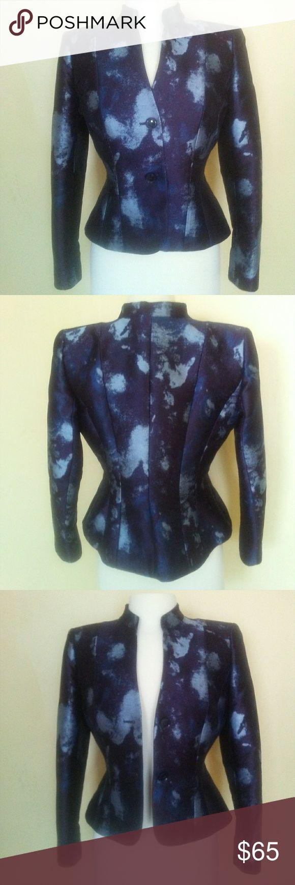 Lafayette 148 Midnight/Powder Blue Blazer EUC. No Flaws.Impeccable Tailoring. Se…