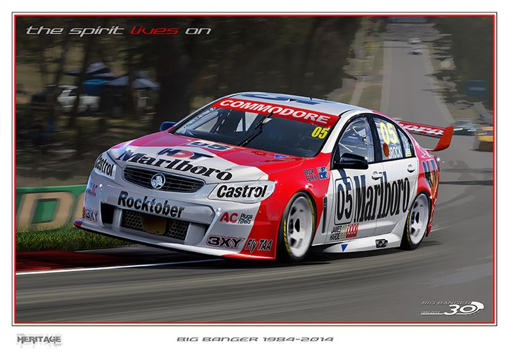 VF SERIES AT BATHURST WITH THE LATE, GREAT LEGENDARY PETER BROCK'S #05 LIVERY. R.I.P MATE.