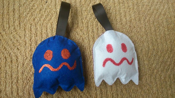 pac-man...scared ghost plushies....
