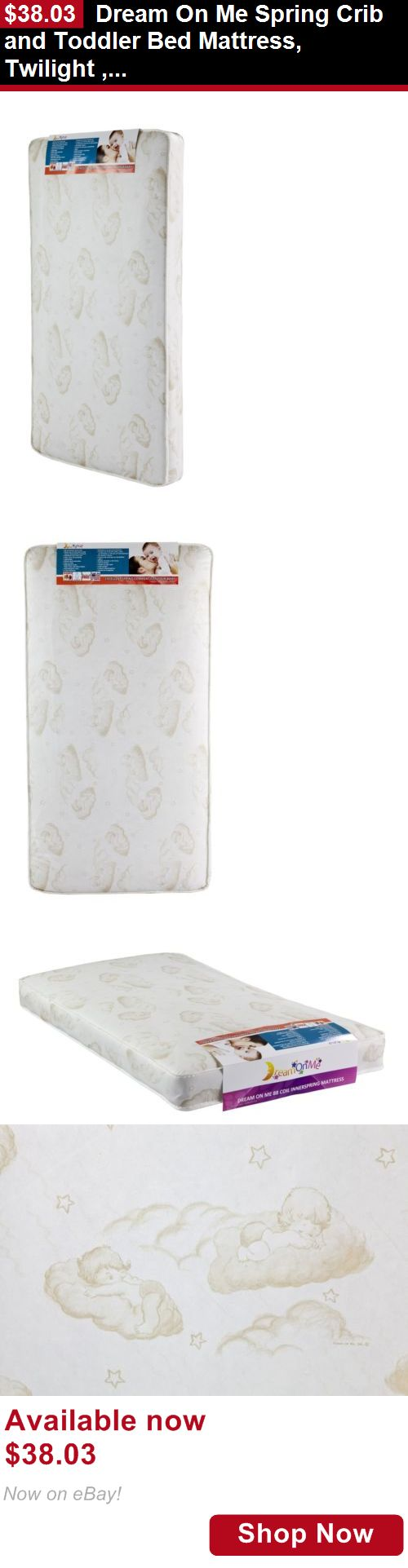 Mattress Pads And Covers: Dream On Me Spring Crib And Toddler Bed Mattress, Twilight , New, Free Shipping BUY IT NOW ONLY: $38.03