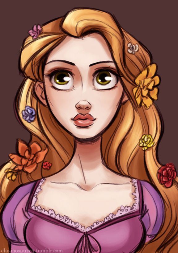 "Love this picture of Rapunzel from ""Tangled""."