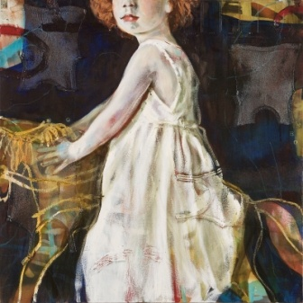 """""""Rings on her Fingers"""" by Sophie Gralton. Oil & Collage on Canvas."""
