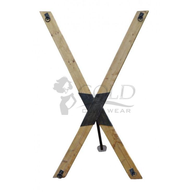 Portable St Andrews Cross Standard Model Mature Bonds of Steel BDSM Gear Dungeon Equipment