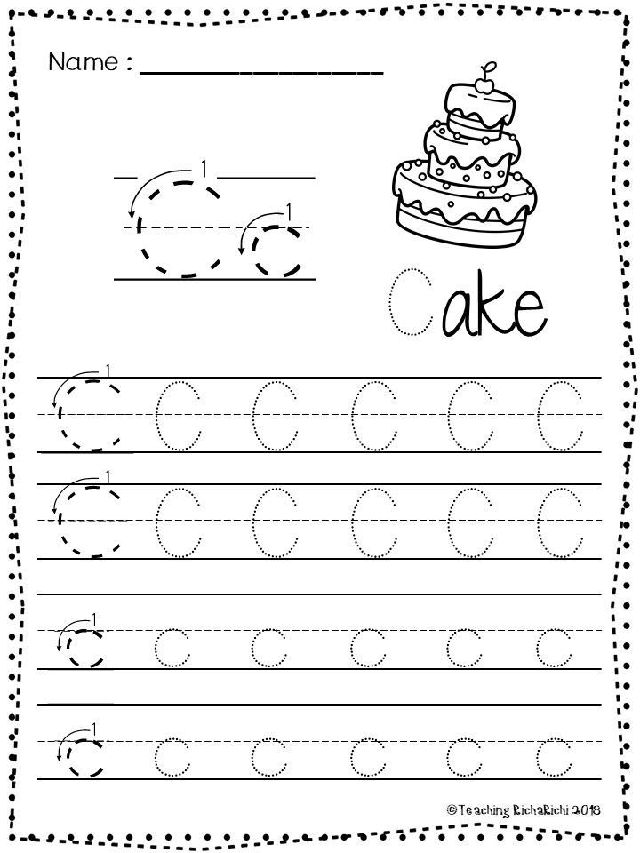 Free Abc Tracing Worksheets Alphabet A Z Upper And Lower Case 01 Di 2020 Pendidikan