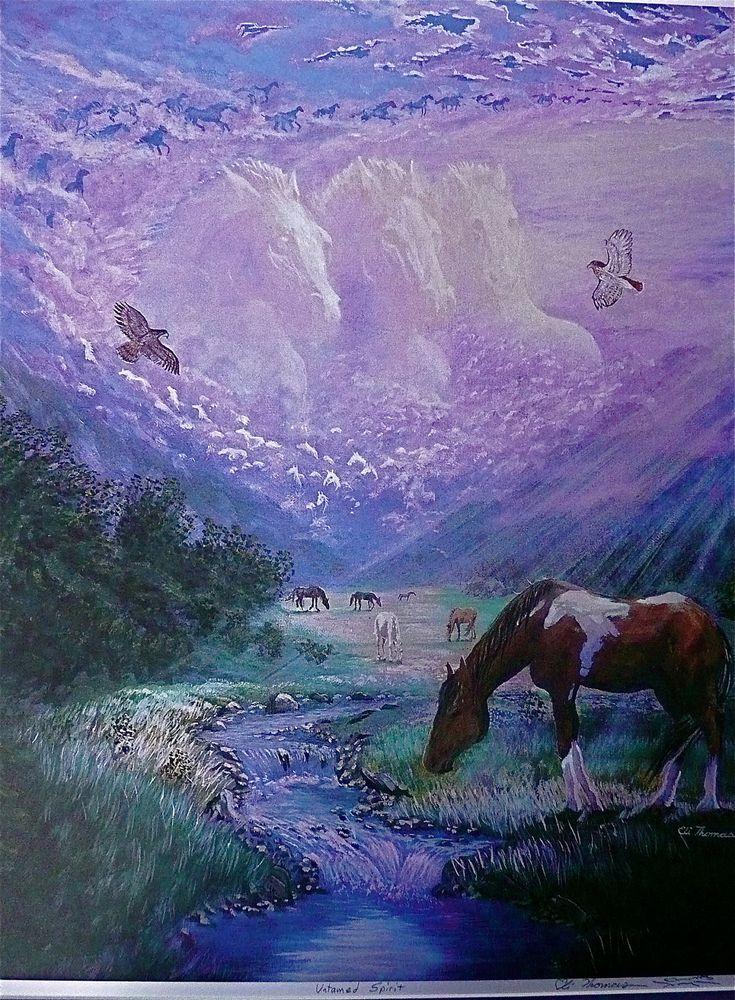 Horse Native American art print untamed spirit