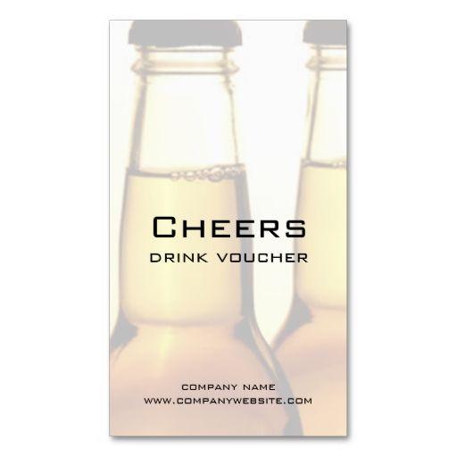 beer restaurant or brewery drink voucher cards