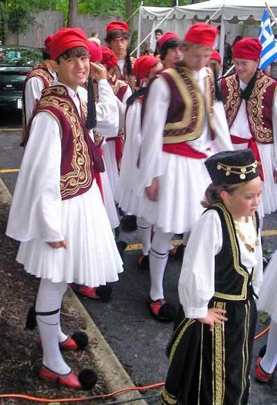 Every Greek Independence Day Chruch Festival had children dressed in traditional customs.