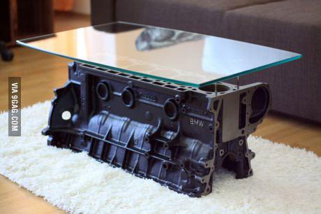 die besten 25 motorblock tisch ideen auf pinterest. Black Bedroom Furniture Sets. Home Design Ideas