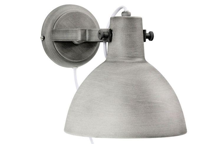 Wandlamp industrieel kleur beton grijs