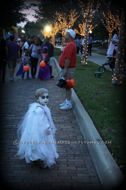 Spooky Ghost Halloween Costume for a Toddler...
