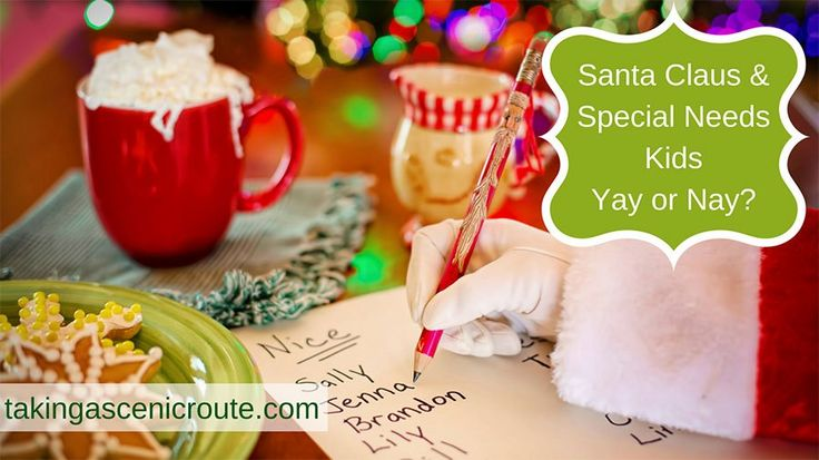 Santa Claus is a traditional figure during the festive season. But some special needs kids might not understand what he stands for. It's OK to say No Santa! Click visit to read more about #specialneedsparenting  #twins and #homeschool