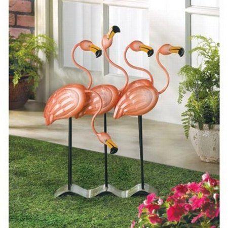 Amazon Com Gifts Decor Tropical Flamingo Flock Iron 400 x 300