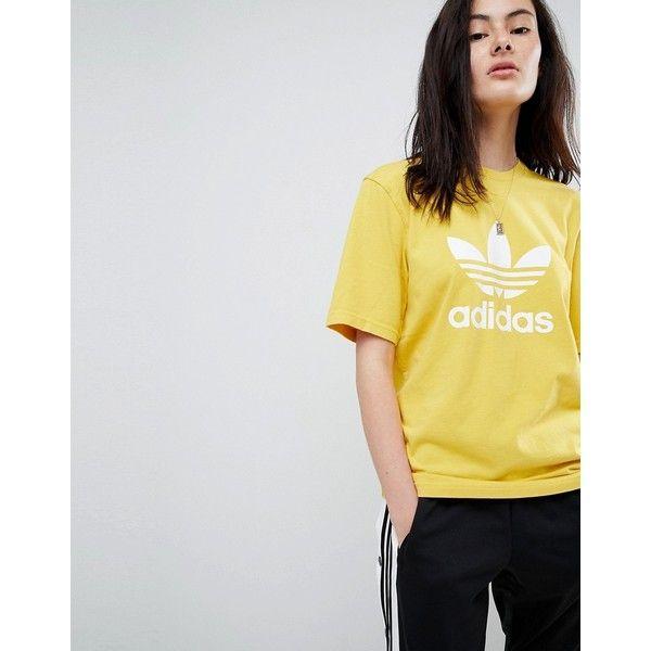 adidas Originals adicolor Trefoil Oversized T Shirt In