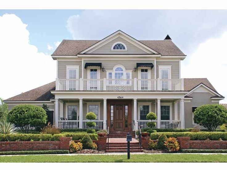 32 best colonial style home model images on pinterest for Classic colonial floor plans