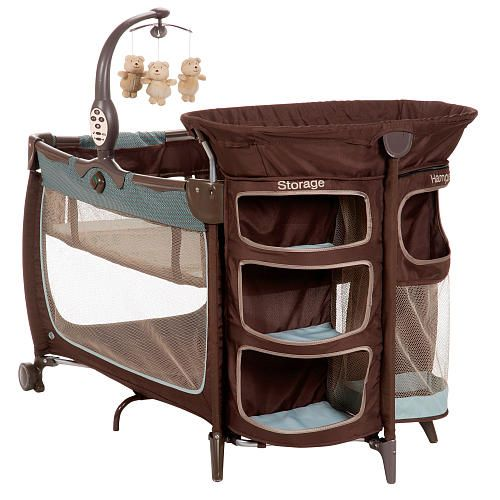 This is so awesome with the storage shelves and whatnot. I plan on using a pack-and-play for the newborn when they get home and this seems like it would be perfect! A place for sleepy baby, more diapers, changing station, more clothes, hamper for dirty clothes. Me likey.