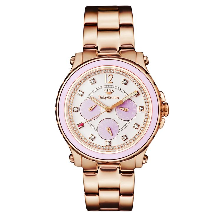 Juicy Couture Women's Hollywood Rose Goldtone Stainless Steel Watch