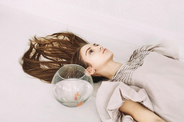 Russian Artists New Wave Photograph - Day Dreams. Series Escape Of Golden Fish by Inna Mosina  #RussianArtistsNewWave #InnaMosina #Woman #StagePhotography