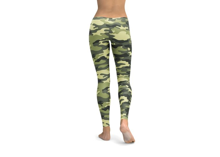 Camouflage Leggings, Yoga Pants, tights, workout gear, cute leggings