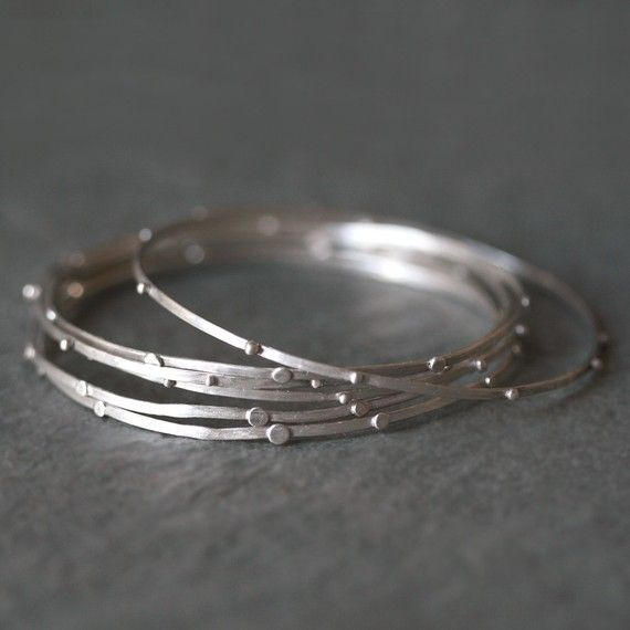 Stack Bangle in Sterling Silver by MichelleChangJewelry on Etsy, $24.00