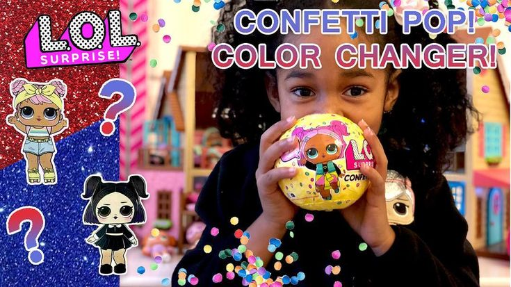 We found a COLOR CHANGER CONFETTI POP! The color change is so different!!! Link in profile or YouTube Search: Gracyns Science Lab #lolsurpriseconfettipop #lolconfettipop #lolsurprisecolorchange #confettipop #lolsurpriseseries3 #lolsurprise #lolsurprisedolls