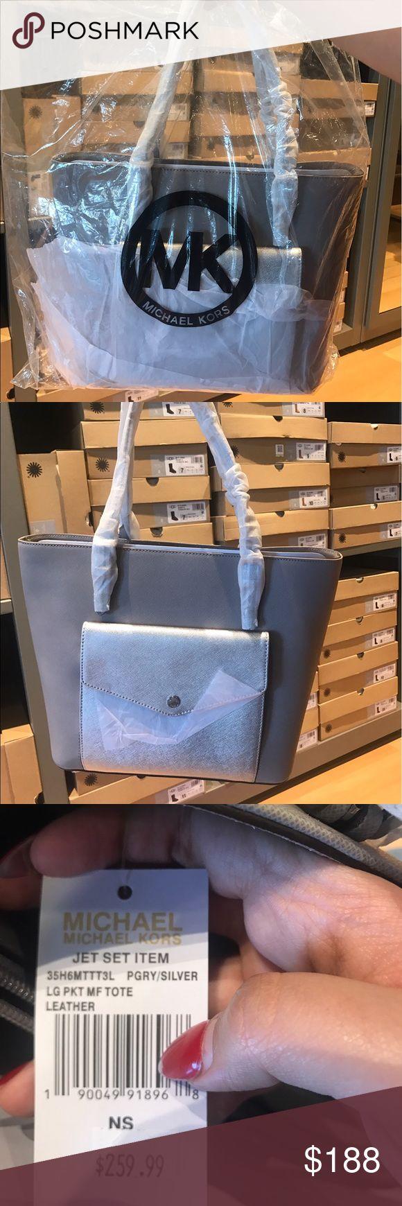 Michael kors grey and silver handbag Michael kors tote brand new with tags in original packaging Michael Kors Bags Totes