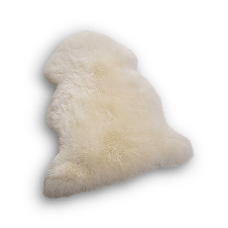 daheim.de, Schaffell 70 x 100 cm Weiß Wolle