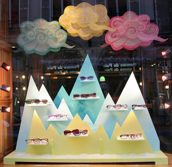 Lafont's window display of the month