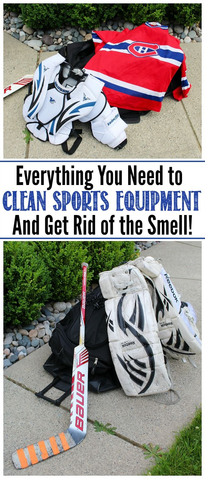 How To Clean Sports Equipment And Get Rid Of The Smell Clean And Scentsible Sports Equipment Cleaning Sports
