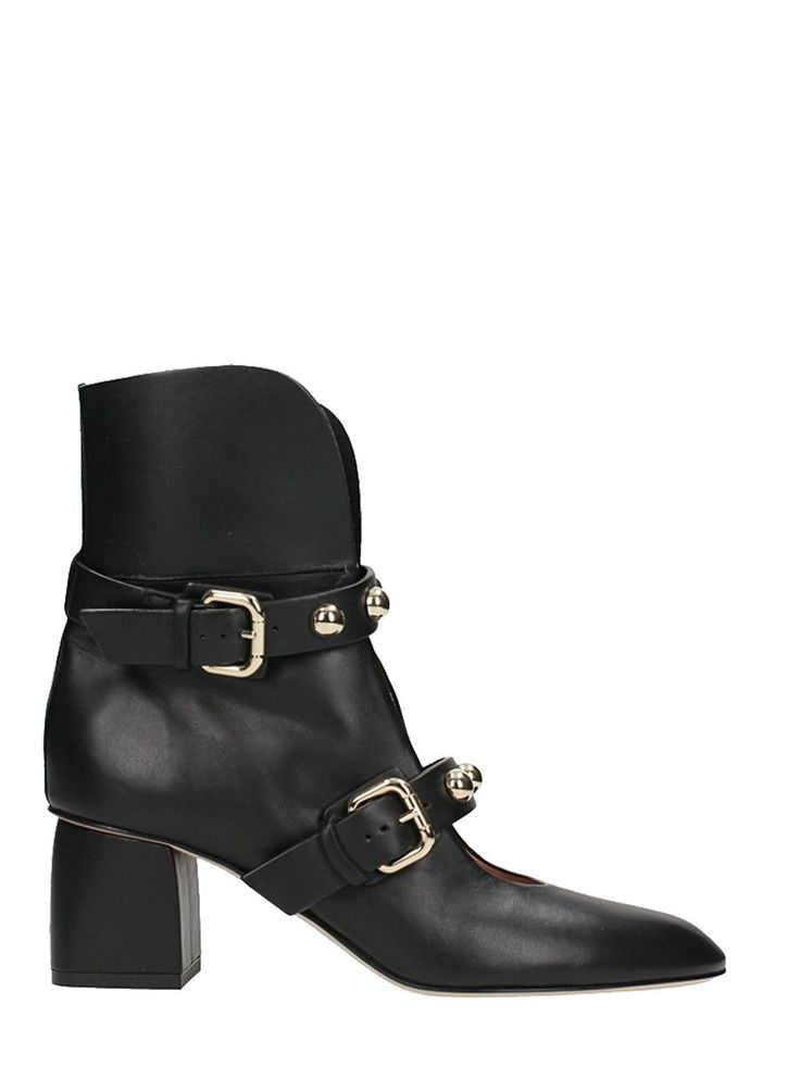 RED VALENTINO | RED Valentino RED Valentino Black Ankle Boots #Shoes #Boots #RED VALENTINO