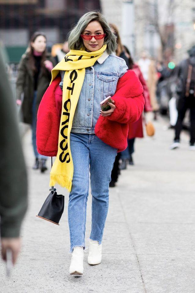 138d0c0ff4f208 Bottines blanches : 50 photos street-style pour savoir comment porter les bottines  blanches en 2019 | MOdE : tENdanCeS pRinTemPs / éTé 2019 | New york ...