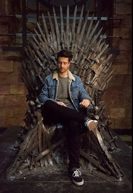 Looking real regal sitting on a throne. I'd be his queen