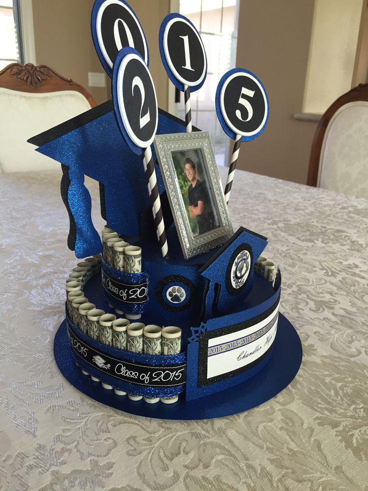 Graduation money cake becky 39 s creations pinterest graduation cakes and money cake - Money cake decorations ...