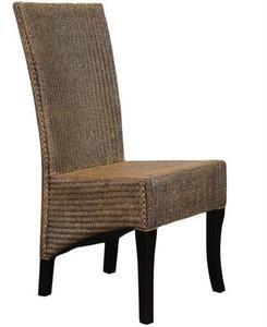 D tails sur 2 chaises restaurant en lloyd loom tresse for Chaises salle a manger en rotin