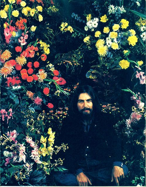 (anything by) George Harrison. I met him one night, as if in a dream, in a Portugese garden, not unlike this one. Then, too, he was surrounded by flowers and trees.