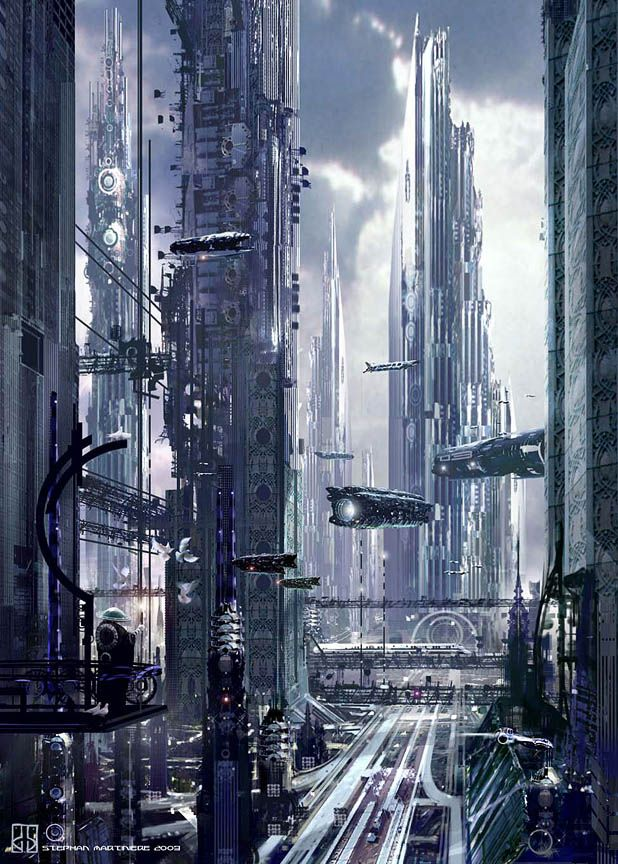 Futuristic City Concepts by Stephan Martiniere - What an ART