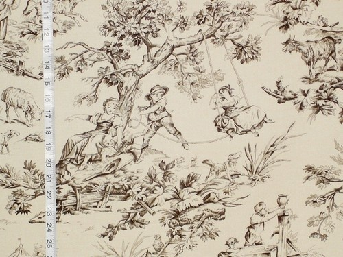 Black Toile Decorating: Black Toile Fabric Beige French Country Home Decorating