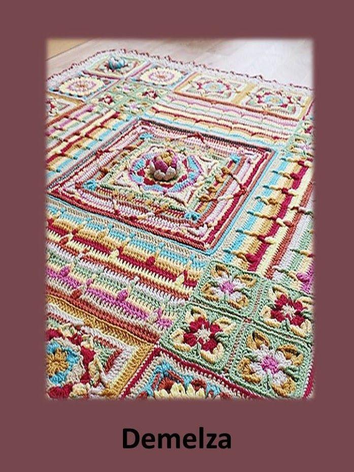 9 best Demelza cal images on Pinterest | Blankets, Crochet afghans ...